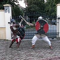 DJ Hudba, spolocenska akcia - Oslava 50. Hotel Dalia - Kosice, kultúrna vložka - stredoveký boj.