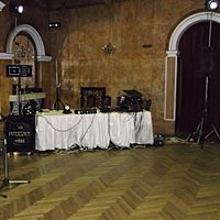 Svadobný DJ Pitoczky, miesto pre DJ-a v PKO Čierný Orol.