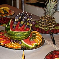Svadba - Ovocný stôl.