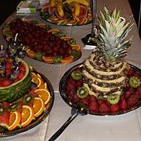 Svadba, ovocné misy.