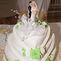 Mladomanželská torta.