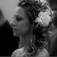 Svadobné fotky, Romantický svadobný účes.
