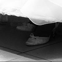 Svadobné topánky.