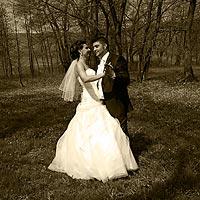 Fotenie svadby - Tanec v parku. - farma Komjáti.