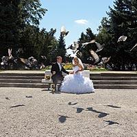 Svadba fotky Košice Hlavná. Park pri kaplnke svätého Michala.