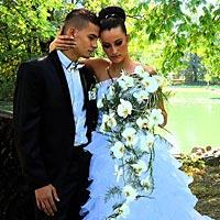 Mladomanželia v parku Barca.