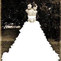 Svadobné šaty, umelecká svadobná fotografia.