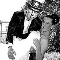 Umelecké svadobné foto, humorné foto.