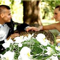 Romantické svadobné foto.