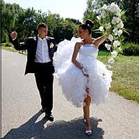 Svadobné foto spoločnou cestou.