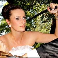 Humorné svadobné foto.