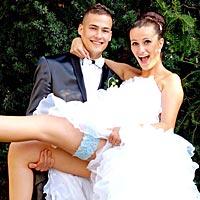 Sexy svadobné foto.
