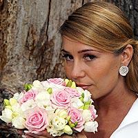 Svadobná fotografia park Barca - svadobný kvet, svadobný účes.