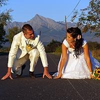 Romantické svadobné foto Pribylina, Vysoké Tatry.