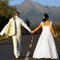 Pekné a romantické svadobné foto Pribylina, Vysoké Tatry.