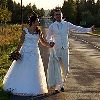 Humorné svadobné foto Pribylina, Vysoké Tatry.