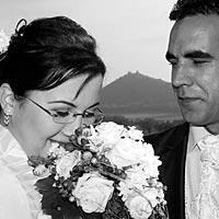 Romantická foto svadba pod Turniaským hradom.