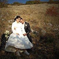 Romantické svadobné foto - spolu na veky.