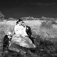 Romantické svadobné foto - navždy spolu.
