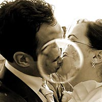 Romantické foto z efektom.