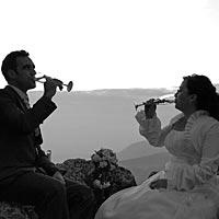 Svadba foto, prípytok na Turnianskom hrade.