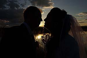 Romantická svadobná fotografia